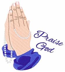 Praise God embroidery design