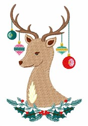 Holiday Reindeer embroidery design