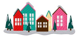 Holiday Houses embroidery design