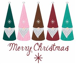 Merry Chrisitmas Gnomes embroidery design