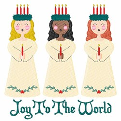 Joy To World embroidery design