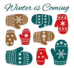 Winter Coming embroidery design