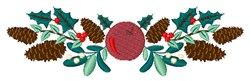Pinecone Border embroidery design