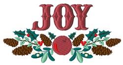 Joy embroidery design