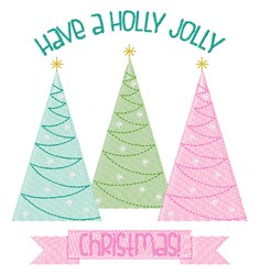 Holly Jolly embroidery design