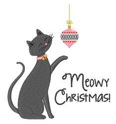 Meowy Christmas embroidery design