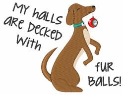Dog Fur Balls embroidery design