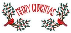 Merry Christmas Birds embroidery design
