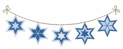 Star Of David Banner embroidery design
