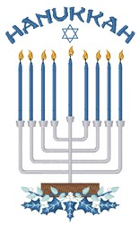 Hanukkah Candles embroidery design
