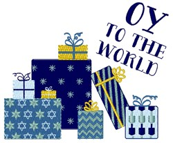 Oy To World embroidery design