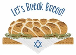 Break Bread embroidery design