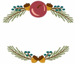 Holiday Frame embroidery design