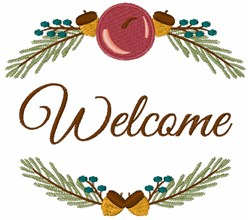 Holiday Welcome embroidery design