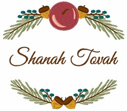 Shanah Tovah embroidery design