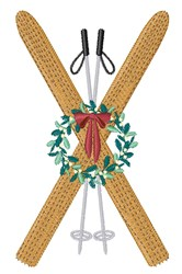 Winter Skis embroidery design