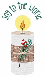 Joy Candle embroidery design