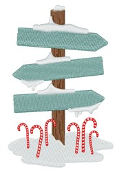Cane Sign Post embroidery design