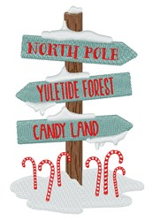 Christmas Sign Post embroidery design