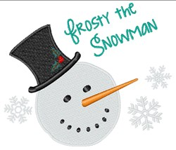 Frosty Snowman embroidery design