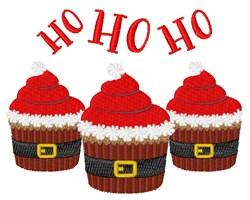 Ho Ho Ho Cupcakes embroidery design
