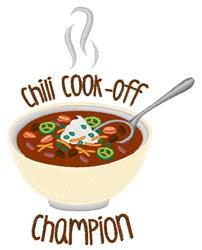 Chili Champion embroidery design