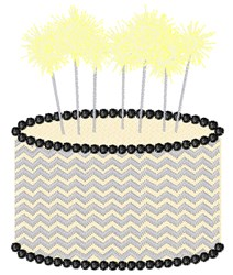 Birthday Sparklers embroidery design
