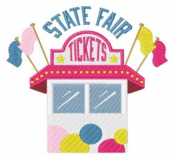 State Fair Tickets embroidery design