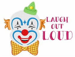Laugh Out Loud embroidery design