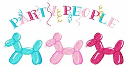 Party People embroidery design