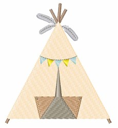 Indian Tepee embroidery design