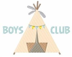 Boys Club embroidery design
