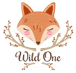 Wild One embroidery design