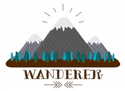 Wanderer embroidery design