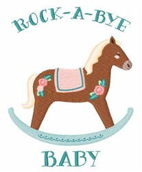 Rock-A-Bye Baby embroidery design