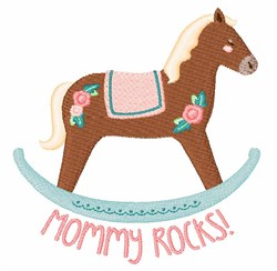 Mommy Rocks embroidery design