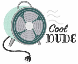 Cool Dude embroidery design