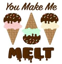 Make Me Melt embroidery design