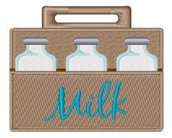Milk Bottles embroidery design
