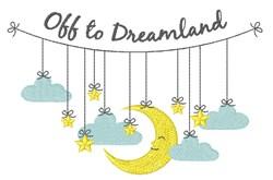 To Dreamland embroidery design