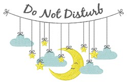 Do Not Disturb embroidery design