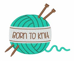 Born To Knit embroidery design