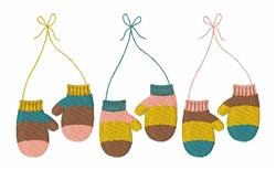 Knitted Mittens embroidery design