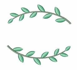 Plant Wreath embroidery design