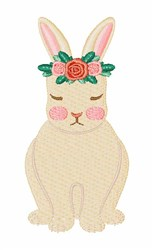 Floral Bunny embroidery design