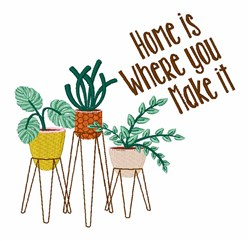 Home Is embroidery design