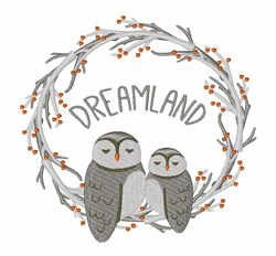 Dreamland Owls embroidery design