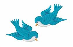 Blue Birds embroidery design