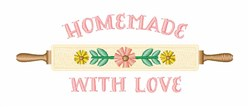 Homemade Love embroidery design