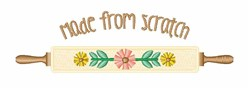 Made From Scratch embroidery design